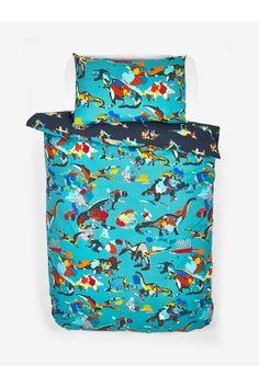 2 Pack Splatter Dinosaur Reversible Duvet Cover And Pillowcase Set Childrens Bed Linen, Double Duvet Covers, Uk Online, Bold Colors, Linen Bedding, Pillow Cases, Packing, Bedroom, Shop