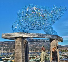 Bear Art In Kelowna (Stuart Park Statue) -- Curated by Misfeldt Accounting Canada For Kids, O Canada, Things To Do In Kelowna, Us Real Estate, Bear Art, Boat Tours, Public Art, British Columbia, Day Trips