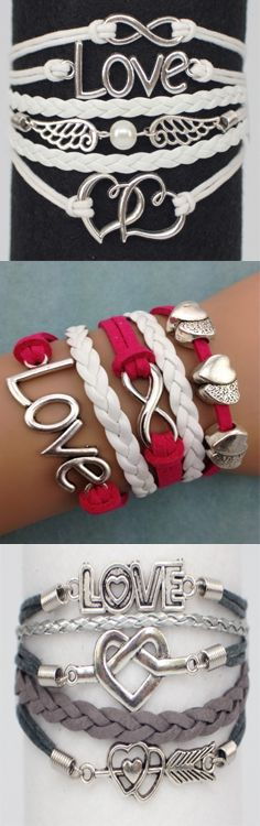 Valentine's Day Bracelets - great gift idea!  Choose 3 FREE (from over 60 unique designs). Must use coupon: CHRIS to get 3  ModWraps of your choice for free, when you cover  shipping.  Coupon expires: 2/15/15. See all our bracelet designs here: http://www.gomodestly.com/idevaffiliate/idevaffiliate.php?id=83