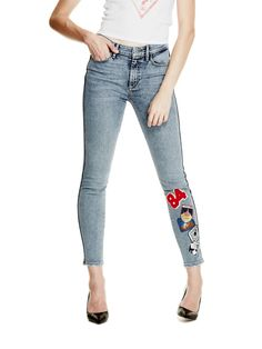 JEAN SKINNY EMPIECEMENTS | GUESS.eu