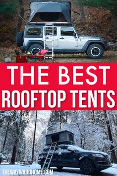 Are you dreaming about a tent that's much more comfortable than ground camping? Check out our picks for the best rooftop tents for a great summer camping trip. Get the correct camping equipment for your camping needs Rooftop Tent Camping, Suv Camping, Best Tents For Camping, Camping Checklist, Camping With Kids, Family Camping, Camping Hacks, Outdoor Camping, Camping Essentials
