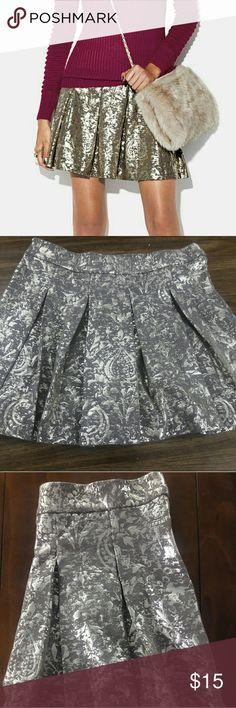 "Mark ""Strike it Rich"" Skirt Beautiful, gold, skirt that falls above the knee. Brand new!! Size XXL. mark Skirts Mini"