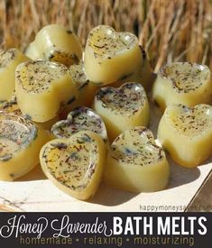 Honey lavendar bath melts