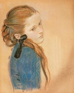 Portrait of a Girl, 1900 by Stanisław Wyspiański on Curiator, the world's biggest collaborative art collection. Collaborative Art, Pastel Drawing, Portraits, Art Festival, Gravure, Art And Architecture, Figurative Art, Great Artists, Art Pictures