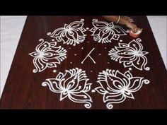 LOTUS kolam with dots II Beautifull lotus kolam II sankranthi muggulu Rangoli Designs Latest, Simple Rangoli Designs Images, Rangoli Kolam Designs, Rangoli Ideas, Rangoli Designs With Dots, Kolam Rangoli, Flower Rangoli, Rangoli With Dots, Beautiful Rangoli Designs