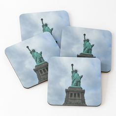 Cold Drinks, Coaster Set, Statue Of Liberty, York, Art Prints, City, Printed, Awesome, Products