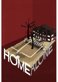 The designer has used dark colour in the poster to resemble that something bad is going to happen. The Fonts are really cleverly carved around the house and stand out. The layout of the poster is very cleverly thought of and is very creative. The overall message of the poster is that the house is a trap to catch rats or thief from stealing.