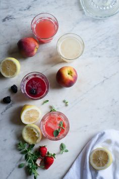 Summer Fruit Lemonades | for the love of the south