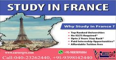 Study In World's Top Ranking Universities. Earn While You Learn. Up to 2 years Stay Back Option. Overseas Education, Ielts, Study Abroad, University, Europe, Student, France, Top, Travel