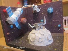 Space Projects, Space Crafts, Science Projects, School Projects, Space Party, Space Theme, Shoe Box Diorama, Diy For Kids, Crafts For Kids