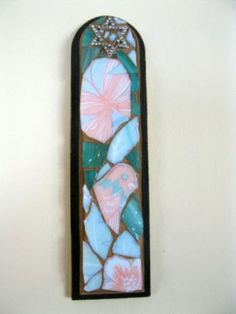 Mezuzah case Star Of David Mosaic by Margalita on Etsy...I'm not Jewish but I find this tradition beautiful.