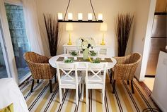 Cute dinning room for small places.