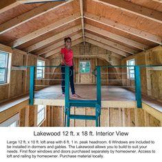 Best Barns Lakewood 1218 Wood Storage Shed Kit Diy Storage Shed Plans, Wood Storage Sheds, Wood Shed, Diy Shed, Craft Shed, Shed With Loft, Cabin With Loft, Build Your Own Shed, Large Sheds