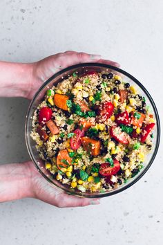 Vegan Detox Quinoa Salad - a healthy, vibrant and delicious salad studded with lots of veggies and dressed in a Lime and Cumin Dressing. Gluten Free.