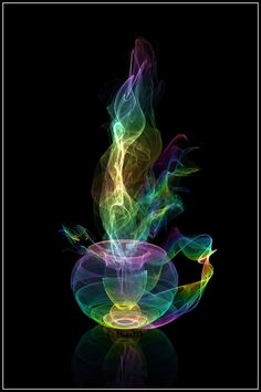 Hot Coffee ~~ awesome pic! http://Coffeeoath.com #fractals #fractalart #art