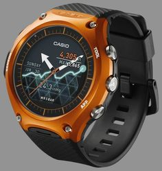 """Did Casio Get Their New WSD-F10 Smartwatch Right? - by Ariel Adams - on aBlogtoWatch.com """"Recently at the CES 2016 (the Consumer Electronics Show), Casio debuted what is arguably their first modern smartwatch with the Casio WSD-F10 collection that includes four models ranging in colors that include the green WSD-F10GN, orange WSD-F10RG, black WSD-F10BK, and red WSD-F10RD. Powered by Android Wear, the Casio WSD-F10 collection is designed in the same vein as their popular ProTrek…"""