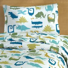 I don't even care, I want these Dinosaur Duvet cover and sheets for the Master Bedroom!