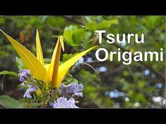 Como fazer um Tsuru, Pássaro de Origami - Dobradura de Papel , papiroflexia