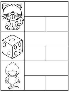 SPANISH: SYLLABLE PUZZLES - free - silabas puzzles for two syllable words