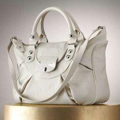 Jennifer Lopez Lorna Pleated Hand White Bag - Satchel $117