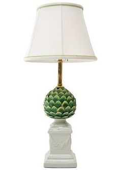 Farm Cottage, White Cottage, White Houses, Garden Gates, Fine Porcelain, Beautiful Homes, Table Lamp, Lighting, Green