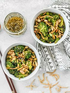 This crunchy, sweet, and salty Roasted Broccoli Salad with Almonds is my favorite way to get my vegetables and goes great with any Asian inspired meal. BudgetBytes.com