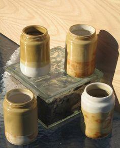 slip cast jar-amber-   Flickr - Photo Sharing!