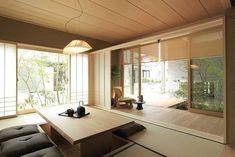 40 Inspiring Modern Apartment Design Ideas With Elegant Room Decor Modern Japanese Interior, Japanese Style House, Japanese Interior Design, Minimalist Home Interior, Japanese Minimalism, Japanese Design, Japanese Living Room Decor, Japanese Bedroom, Japanese Home Decor