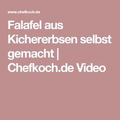 Falafel aus Kichererbsen selbst gemacht | Chefkoch.de Video