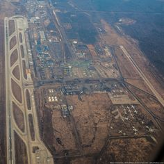 Moscow airport DOMODEDOVO (DME), pictured from above