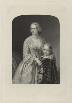 Duchess of Argyll | Elizabeth, Duchess of Argyll with her son, by William Henry Mote ...