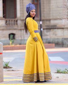 Tebogo maxi dress - Shweshwe Edition Colou