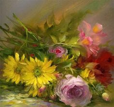 Art-and-Dream — Art painting Floral Bouquet by Gary Jenkins Arte Floral, Paintings I Love, Beautiful Paintings, Gary Jenkins, Dream Art, Floral Bouquets, Oeuvre D'art, Love Art, Watercolor Art