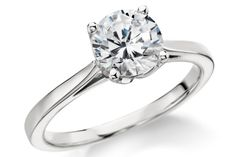 Monique Lhuillier Cathedral Solitaire Engagement Ring in Platinum by Blue Nile