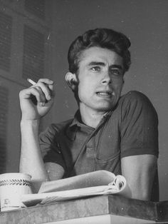 James Dean, bw, photo, icon