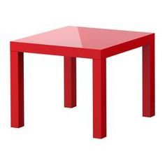 """LACK Side table - high gloss red, 21 5/8x21 5/8 """" - IKEA come in 10 different colors - $12.99"""
