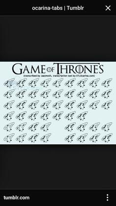 Game of Thrones Theme Ocarina Score