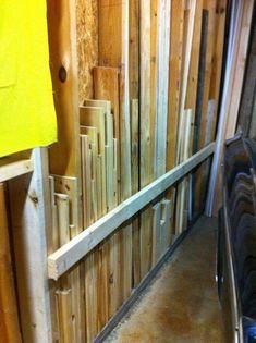 Image result for vertical lumber storage #PortableShedPlan