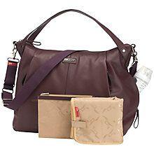 Buy Storksak Catherine Leather Changing Bag, Bordeaux Online at johnlewis.com
