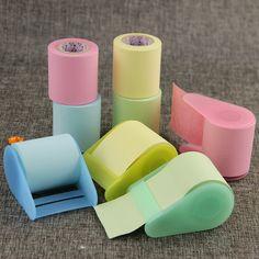 South Korean Stationery Creative Can Tear Memo Pad Tape Dispenser Formula Xpress Sticky Notes Fluorescent Paper 1pcs купить на AliExpress