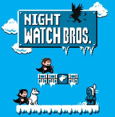 Super Mario Bros. Meets Game of Thrones  I'd just like to go on record and state that I'd play the living shit out of this. You can pick up this sweet graphic by Baz in t-shirt form from RedBubble.