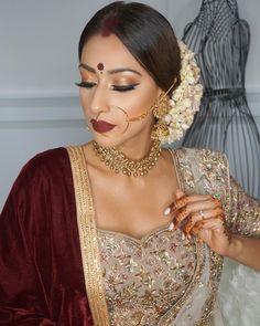 Indian Wedding Makeup Looks Indian Makeup Looks, Indian Wedding Makeup, Wedding Makeup For Brown Eyes, Bridal Makeup Looks, Wedding Makeup Looks, Bridal Hair And Makeup, Bridal Looks, Indian Bridal Hairstyles, Indian Bridal Outfits