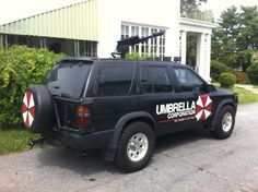My Umbrella Corporation Themed Resident Evil SUV with roof-mounted flamethrower