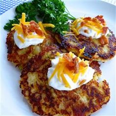 Loaded Mashed Potato Cakes.