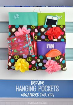 Bedside Hanging Pockets Organizer DIY | Club Chica Circle - where crafty is contagious