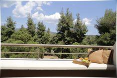 Outdoor Sofa, Outdoor Furniture, Outdoor Decor, Easter Vacation, Halkidiki Greece, Spa Center, Walter Gropius, Family Getaways, Hotel Spa