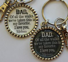 Father+of+the+Bride+Gift+Keychain+Dad+of+all+the+walks+by+TrendyTz,+$14.99