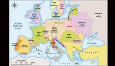 Europa en el siglo XV. (Foto: Agencias) Pokemon, Maps, Holy Roman Empire, Ottoman Empire, Imperial Crown, 15th Century, Norway, Romans