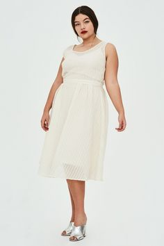 749c393b85 EVELYN Textured Organza Midi Dress Dresses For Work, Plus Size Dresses, Day  Dresses,