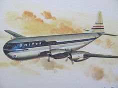 Vintage United Airlines Print Poster Boeing by TheManlyMan